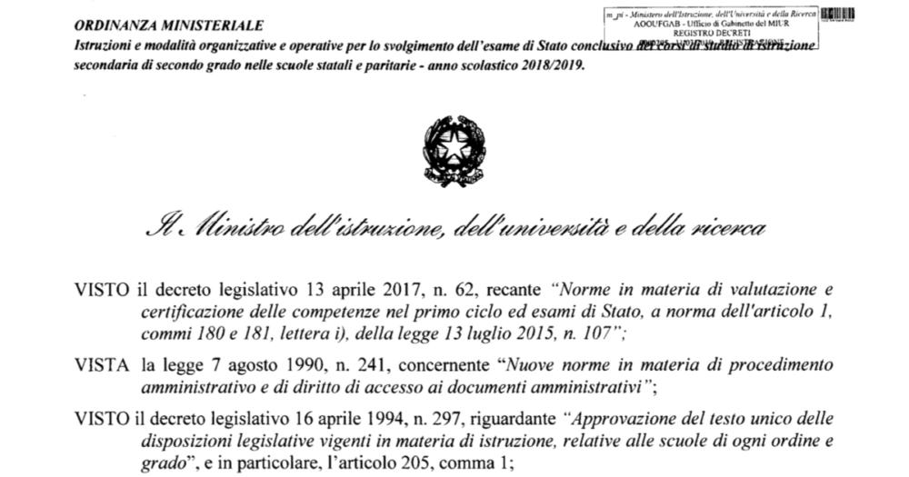 ESAME DI MATURITA', DSA E BES 2019